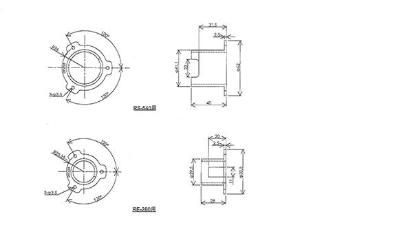ファンテックモーターホルダーのサイズ